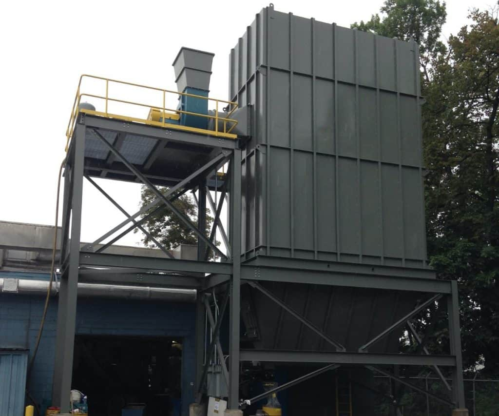 Foundry dust collector